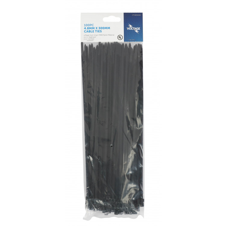 CABLE TIES 4.8MM X 300MM 100PCE