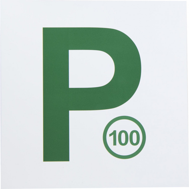 MAGNETIC 100 P PLATES WHITE/GREEN