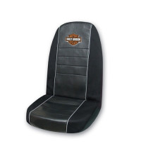 Harley-Davidson Seat Cover 60/25 Orange/White with logo (Single)