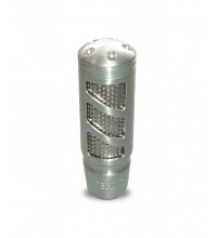 Autotecnica Silver Alloy Straight Gear Knob with Mesh Insert