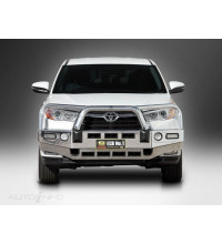 East Coast Bull Bars Big Tube  Bullbar - ADR Compliant - With ECB bumper lights Silver Hammertone AC59369