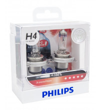 Philips H4 XtremeVision +100% 12V 60/55W Globe Twin Pack