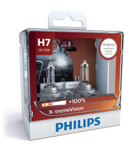 Philips H7 XtremeVision +100% 12V 55W Globe Twin Pack