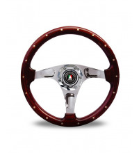 Autotecnica Bullit Steering Wheel, 350mm, 3 Spoke, Wooden