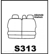 Seat Cover World Seat Cover - Pack FABRIC SC08410