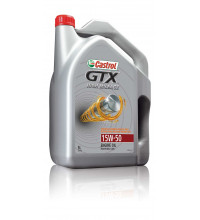 CASTROL ENGINE OIL GTX HIGH MILEAGE 15W50 5L