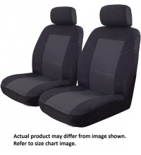 Ilana Esteem black seat covers for Mazda BT50 Dual Cab XTR GT 10/15 -On Black DS
