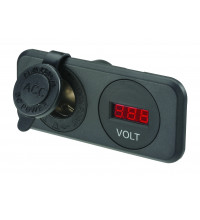 Narva Heavy Duty Accessory Socket and 12/24V DC LED Volt Meter
