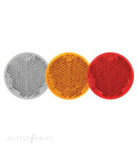 REFLECTOR CLEAR 43MM RETRO ROUND SELF ADHESIVE 2