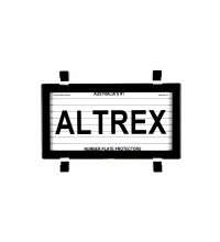 Altrex Number Plate Frame Motorcycle Number Plate Protector