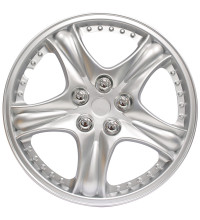 "Streetwize Ferrara Series 13"" Silver Set Of 4 Wheel Covers"