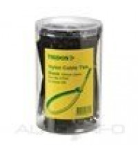 CABLE TIE BLACK 3X100MM PK300 TUBE