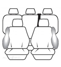 Ilana Seat Cover - Esteem Pack Black SC08637