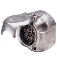 NARVA Trailer Socket 7 Pin Round Metal