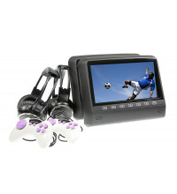"Gator Twin 9"" DVD Rear Headrest Multimedia System With Inbuilt DVD Player Black"