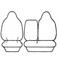 ESTEEM SEAT COVER 1ROW Suitable For Toyota HIACE 10/06