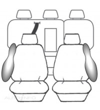 ESTEEM SEAT COVERS 2ROW I30 GD ELITE PREM DEP SAFE