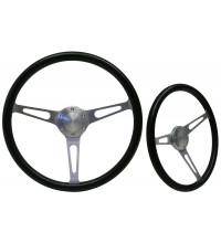 SAAS Classic Poly Brushed Aluminium Steering Wheel