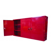 Trade Quip Wall Cabinet Lockable 3 Door 1200X800X200mm