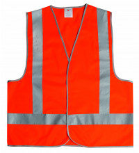 Protector Safety vest hi-vis reflective orange large
