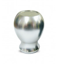MONZA GEAR KNOB SILVER ROUNDED