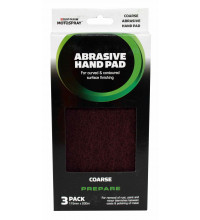 Motospray Abrasive Hand Pad Maroon (3Pack)