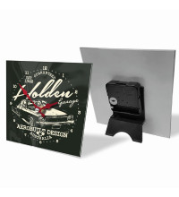 HOLDEN GARAGE MINI GLASS CLOCK