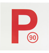 MAGNETIC 90 P PLATES WHITE/RED