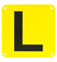 Streetwize L Plates All States Yellow/Black Plastic
