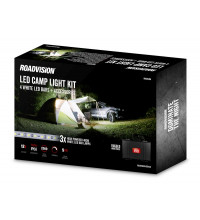 LED 4 Bar 12V White Camp Lighting Kit.