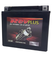 RevPlus Motorcycle Battery 12V 6AH YTX7A-BS