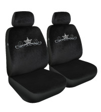 Streetwize Seat Cover Studded Crown Velour 30/50 Black