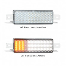 LEDAUTOLAMPS FRONT INDICATOR MARKER LAMP TWIN PACK