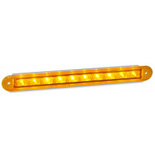 LEDAUTOLAMPS LED Indicator strip lamp with 10 square LEDs.