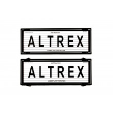 Altrex Number Plate Frame 6 Figure Black With Lines with Silver Border