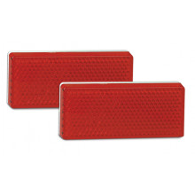 LEDAUTOLAMPS LED Red reflex reflector with 3M self adhesive Pe Foam tape for fixing.