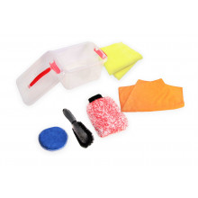 7PCE CAR WASH GIFT PACK PLASTIC STORAGE BOX