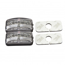 LED MARKER LIGHT WHITE 10-30V 50X25MM ADHESIVE 2PK