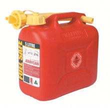 Fuel Safe Plastic Fuel Can 5L Red