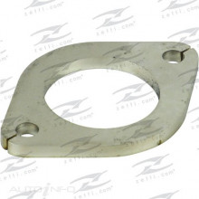 2 BOLT FLANGE PLATES - ID  76.5+0.5/-0MM 3 BOLT-HOLE CENTRE-TO-CENTRE  105MM BOLT-HOLE DIA 13MM L  132MM W  94MM THICKNESS 8MM MATERIAL STAINLESS STEEL GASKET GMG093R