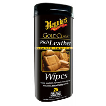Meguiars Rich Leather Premium Wipes