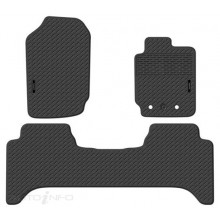 Precision Fit Custom Fit Rubber Floor Mats - Ford Ranger Dual Cab