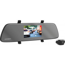 5IN R/VIEW MIRROR W/FULL HD DUAL CH DASH CAMERA