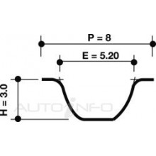 TIMING BELT 191STP8M320H T303