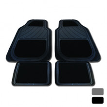 STREETWIZE GEORGIA GREY SET 4 CARPET/RUBBER FLOOR MATS