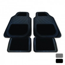 STREETWIZE GEORGIA BLACK SET 4 CARPET/RUBBER FLOOR MATS