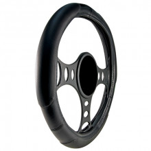 SOFT TOUCH STEERING WHEEL COVER XL BLACK