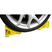 YELLOW WHEEL CHOCKS WITH RUBBER FEET