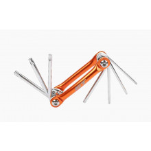 7PCE FOLDABLE HEX SET TAMPER TORX