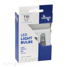 LED WEDGE T10 12V W5W W2.1X9.5D 6000K 2PK